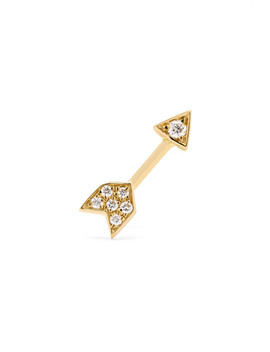 Arrow 18 Karat Gold Diamond Earring by Maria Tash