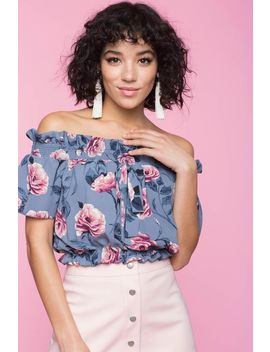 Kendre Floral Off Shoulder Top by A'gaci