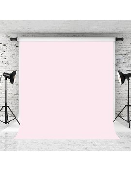 Kate 5x7ft Pure Pink Backdrop Light Pink Solid Color Background Cotton Collapsible Photo Studio Props by Kate