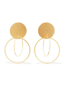 Halo Gold Tone Earrings by Annie Costello Brown