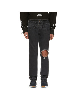 Black Guess Edition Slim Tapered Jeans by Midnight Studios