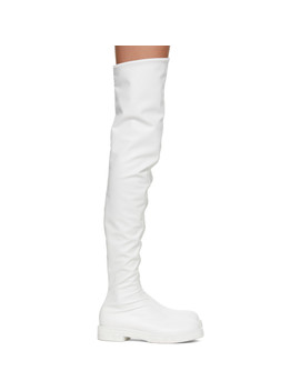 White Tall Boots by Junya Watanabe