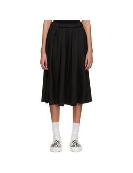 Black Crinkle Skirt by Comme Des GarÇons Girl