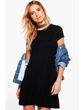 Rina Cap Sleeve Swing Dress by Boohoo