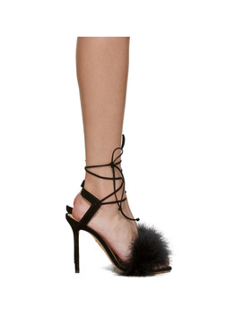 Black Suede Salsa Sandals by Charlotte Olympia