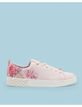 Floral Print Trainers by Ted Baker