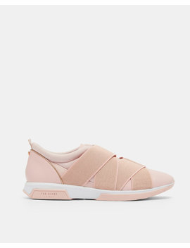 Elastic Strap Leather Trainers by Ted Baker