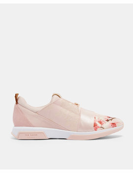 Blossom Jacquard Suede Trim Trainers by Ted Baker