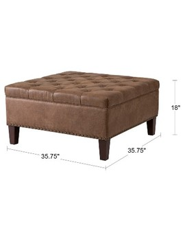 Lindsey Tufted Square Cocktail Ottoman by Target