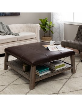 Pine Canopy Uncompahgre Grey Finish Wood Coffee Table Ottoman by Pine Canopy