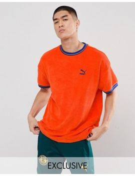 Puma Towelling T Shirt In Orange Exclusive To Asos by Puma