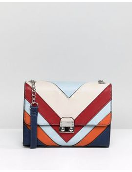 Stradivarius Multi Stripe Cross Body Bag by Stradivarius