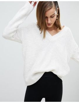 Stradivarius Cross V Neck Knitted Jumper by Stradivarius