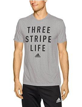Adidas Men's Classic Badge Sport Graphic Tee, Medium Grey Heather/Black, Medium by Adidas