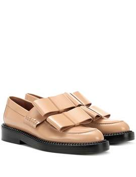 Glossed Leather Loafers by Marni