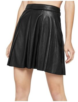 Faux Leather Wrap Front Skirt by Bcbgmaxazria
