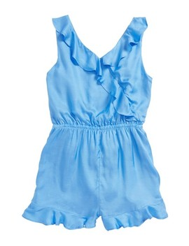 Junior Lucia Ruffle Trim Romper by Bardot