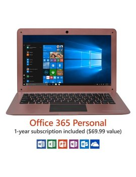 "12.5"" Ultra Slim Laptop, Windows 10 Home, Office 365 Personal 1 Year Subscription Included ($69.99 Value), Intel Processor, 32 Gb Storage, Front Camera With 10 Hour Battery by Direkt Tek"