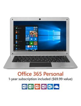 "14"" Ultra Slim Laptop, Windows 10 Home, Office 365 Personal 1 Year Subscription Included ($69.99 Value), Full Hd, Intel Processor, 32 Gb Storage, Front Camera With 10 Hour Battery by Direkt Tek"
