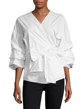 Tiered Ruffle Sleeve Blouse by Bcbgmaxazria