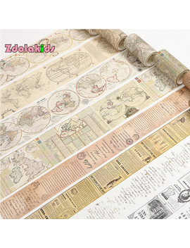 Vintage Nautical Map English Letters Washi Tape Diy Decorative Scrapbook Masking Tape Office Adhesive Tape Stationery  by Ali Express