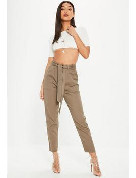 Khaki Cargo Trousers by Missguided
