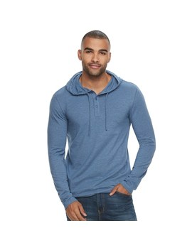 Men's Sonoma Goods For Life™ Supersoft Classic Fit Henley Hoodie by Kohl's