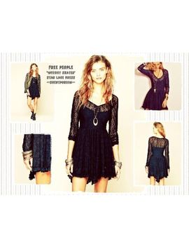 Nwt Free People Witchy Skater Star Lace Boho Festival Coachella Slip Dress S by Free People
