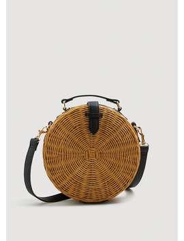 Sac Coffre Bambou by Mango