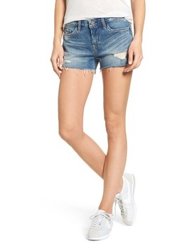 The Astor Distressed Denim Shorts by Blanknyc