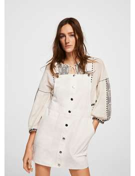 Robe Chasuble Courte Coton by Mango