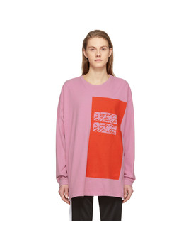 Ssense Exclusive Pink Colorblock 'the New Body' T Shirt by Some Ware