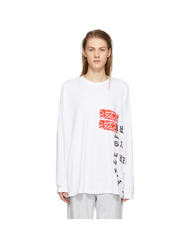Ssense Exclusive White Long Sleeve Text T Shirt by Some Ware