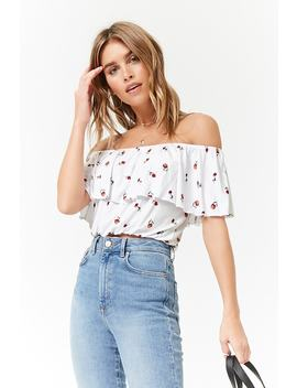Floral Print Flounce Top by Forever 21