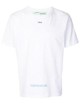 Diagonal Print T Shirt by Off White