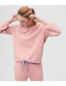 Lou & Grey Form Heathered Drawstring Sweatshirt   Anytime by Loft