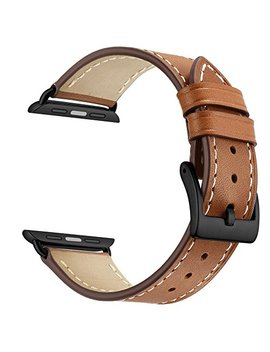 Apple Watch Band Leather Replacement Watch Strap With Stainless Metal Buckle Clasp Iwatch Series 1 2 3 Replacement Strap by Oxwallen