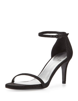 Naked Leather Low Heel Sandal, Black by Stuart Weitzman