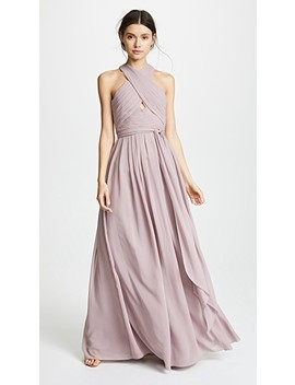 Halter Gown With Cutout by Monique Lhuillier Bridesmaids