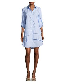 Jenna Ruffle Tiered Shirtdress by Finley