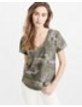 Camo V Neck Boyfriend Tee by Abercrombie & Fitch