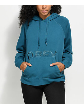 Obey Parkside Turquoise Hoodie by Obey
