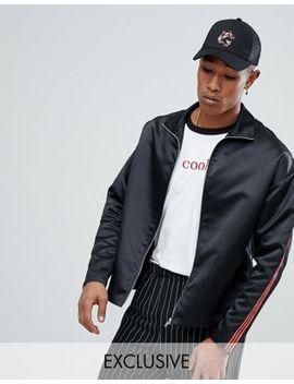 Атласная куртка на молнии Reclaimed Vintage Inspired by Asos