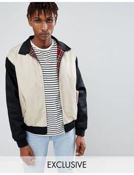 Куртка Харрингтон со вставками Reclaimed Vintage Inspired by Asos