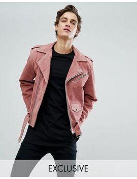 Замшевая байкерская куртка Reclaimed Vintage Inspired by Asos