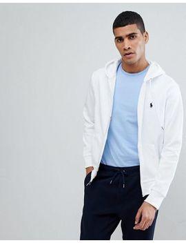 Худи белого цвета на молнии с логотипом Polo Ralph Lauren by Asos