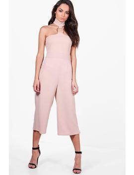 Zora Ring Detail Culotte Jumpsuit by Boohoo