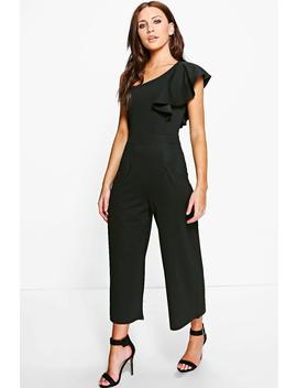 Amy One Shoulder Frill Jumpsuit by Boohoo
