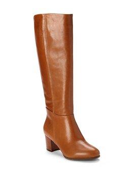Vionic Pep Tahlia Tall Leather Block Heel Boots by Vionic Walk.Move.Live