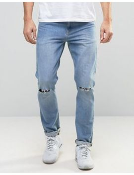 Asos Skinny Jeans With Knee Rips by Asos